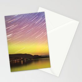Aurora at Flat Head Lake Stationery Cards