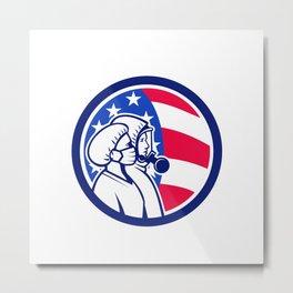 American Healthcare Workers As Heroes Circle Retro Metal Print