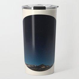 Mountain Against Beautiful Ombre Blue Sky & Star Sky Travel Mug