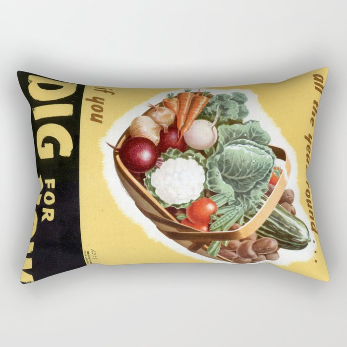 Dig For Victory Rectangular Pillow