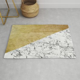 Marble vs GOld Rug