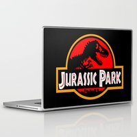 jurassic park Laptop & iPad Skins featuring Jurassic Park by MrWhite