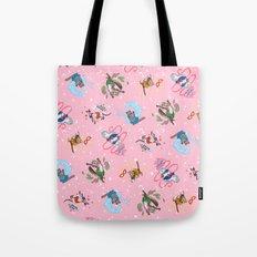 Sailor Kitties Pink Pattern Tote Bag