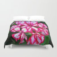 the xx Duvet Covers featuring flowers xx by  Agostino Lo Coco