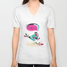 he loves me / he loves me not? Unisex V-Neck