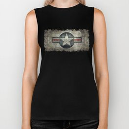 Stylized US Air force Roundel Biker Tank