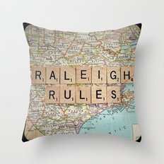 Raleigh Rules Throw Pillow
