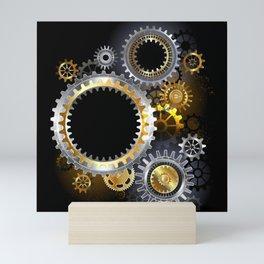 Steampunk Steel Gears Mini Art Print