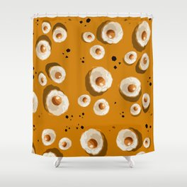 """""""The big Egg with Pepper"""" Shower Curtain"""