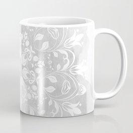 white on gray mandala design Coffee Mug