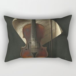 William Michael Harnett The Old Violin 1886 Painting Rectangular Pillow