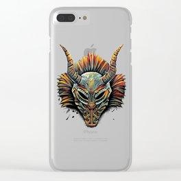 Killmonger Tribal Mask Clear iPhone Case