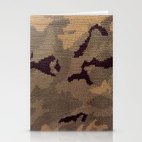 camo Stationery Cards featuring Camo by Sheena Mohammadi