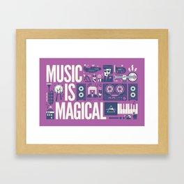 Music is ... Framed Art Print