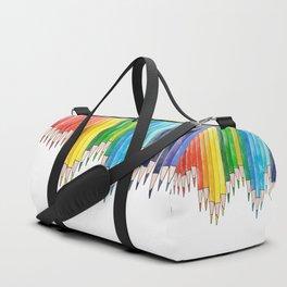 colored pencils Duffle Bag