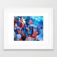 venice Framed Art Prints featuring Venice by oxana zaika