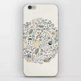 Circulo de flores iPhone Skin