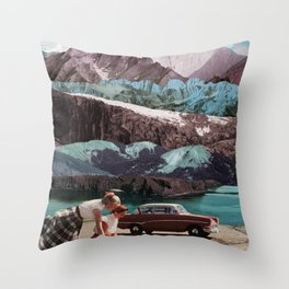 Planning the next trip Throw Pillow