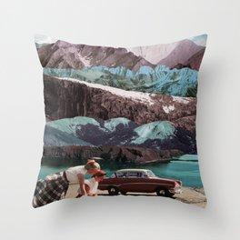 Planning the next trip Throw Pillow
