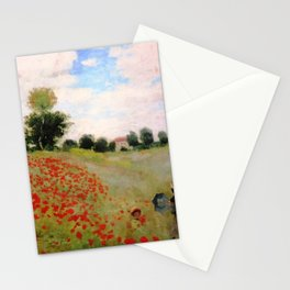 POPPIES - CLAUDE MONET Stationery Cards