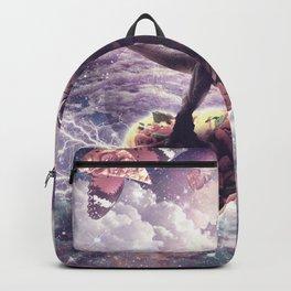 Space Pug Riding Dinosaur Unicorn - Pizza & Taco Backpack
