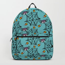 Happy halloween spiders and web pattern Backpack