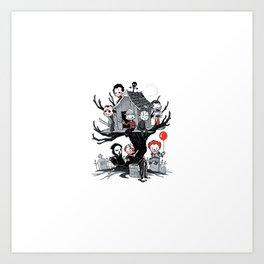 Horror Clubhouse Art Print