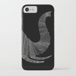 Elephant (On Black) iPhone Case