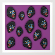 Gorilla Pattern Art Print