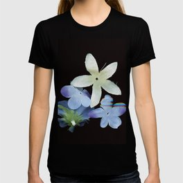 Artificial Flowers Glitched Scan T-shirt