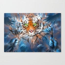 Unravelled Tiger Canvas Print