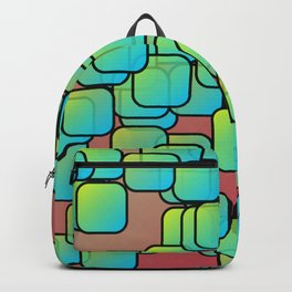 Emerald colored squares Backpack