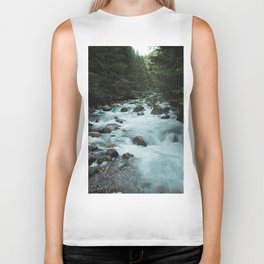Pacific Northwest River II - Nature Photography Biker Tank