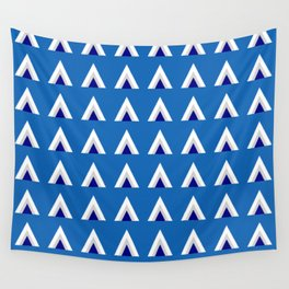 Frosty Triangles Wall Tapestry