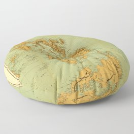 Map Of The Philippines 1898 Floor Pillow