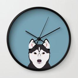 Shiloh - Husky Siberian Husky dog art phone case perfect gift for dog people Wall Clock