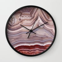 agate Wall Clocks featuring Agate Crystal by Santo Sagese