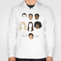 community Hoodies featuring Community by Bill Pyle