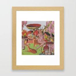 Oriental Garden Framed Art Print