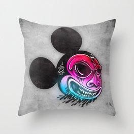 Evil Mickey 2 Throw Pillow