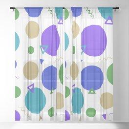 Retro Colors V Sheer Curtain