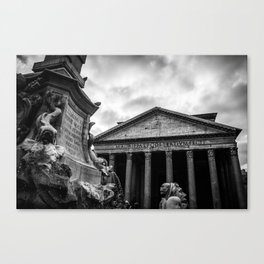 Clouds Over The Pantheon Canvas Print