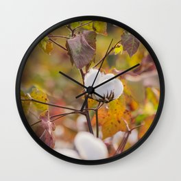 Cotton Flower 3 Wall Clock