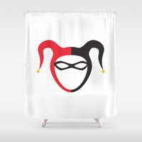harley quinn Shower Curtains featuring Harley Quinn by TdL MD