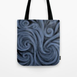dark blue swirl Tote Bag