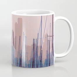 City Harbor Skyline Abstract Coffee Mug