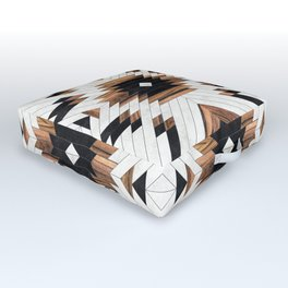Urban Tribal Pattern No.5 - Aztec - Concrete and Wood Outdoor Floor Cushion
