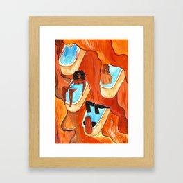 Mystic hot springs Framed Art Print