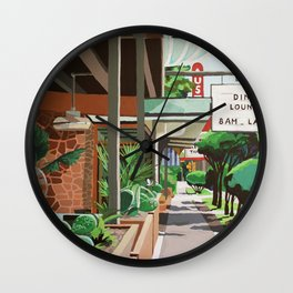 Cactus Cafe Wall Clock