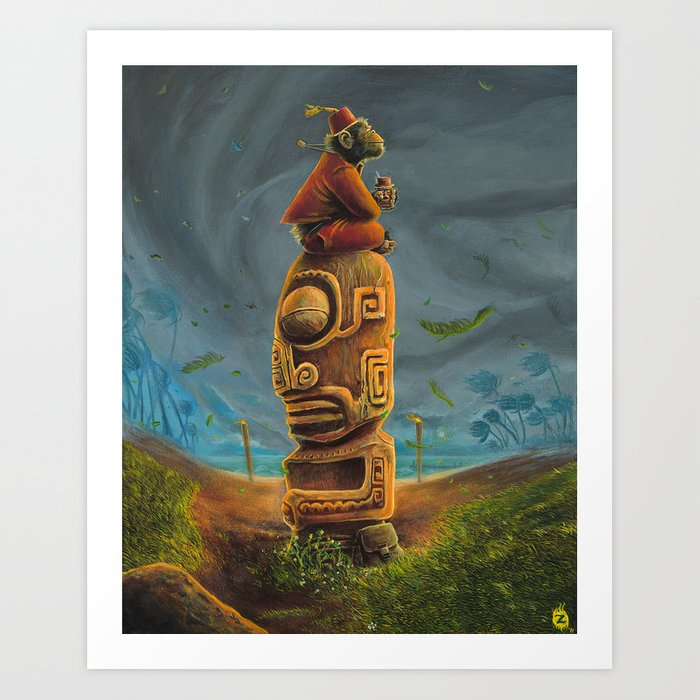 Koshi Greets The Storm Art Print